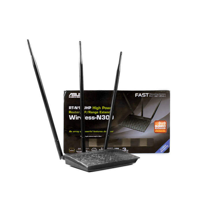 Asus rt n14uhp wireless n high power router ap range extender with usb ports lazada - Wifi repeater with usb port ...
