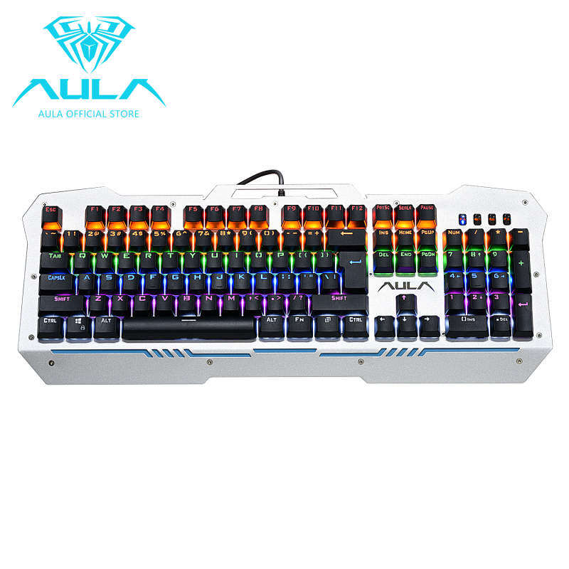 NiceNew AULA F2009 Mechanical Gaming Keyboard 104Keys Multicolors Backlit(Black) Singapore