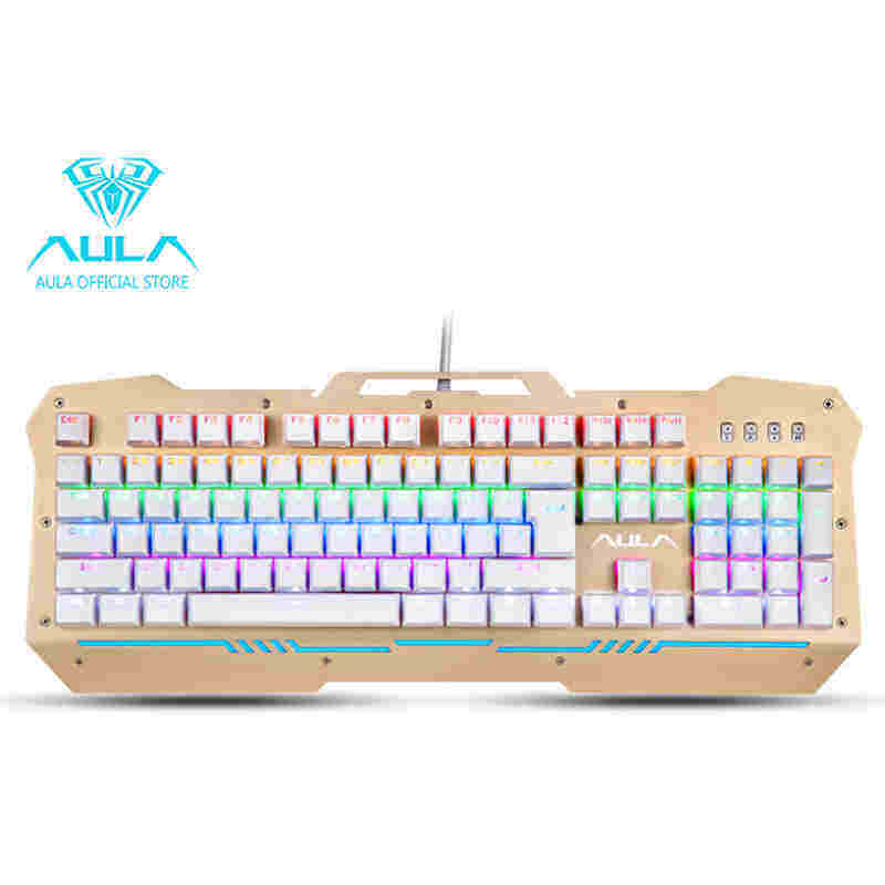 GreatTop AULA F2009 Mechanical Gaming Keyboard 104Keys Multicolors Backlit(Black) Singapore