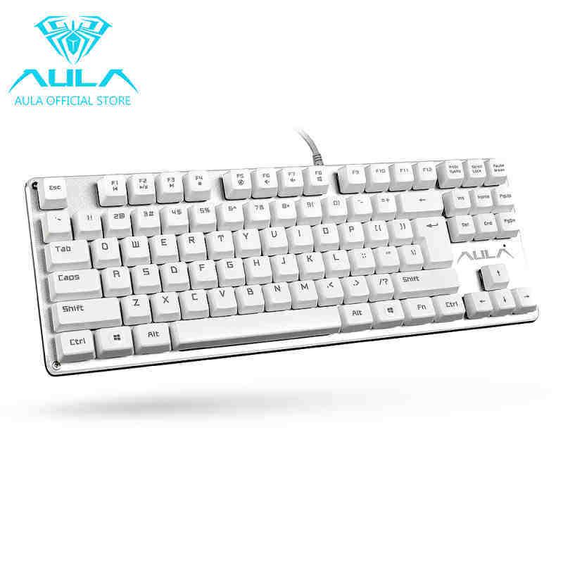 MegaStar AULA F2012 Mechanical Gaming Keyboard USB Wired Keyboard(White) Singapore