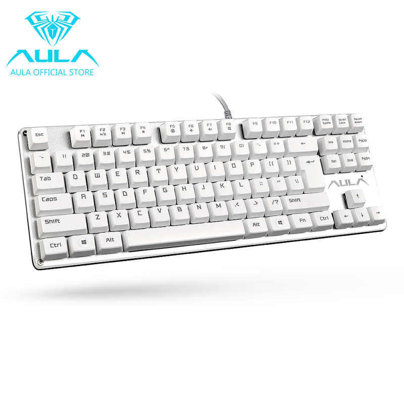 JoyFun AULA F2012 Mechanical Gaming Keyboard USB Wired Keyboard(White) Singapore