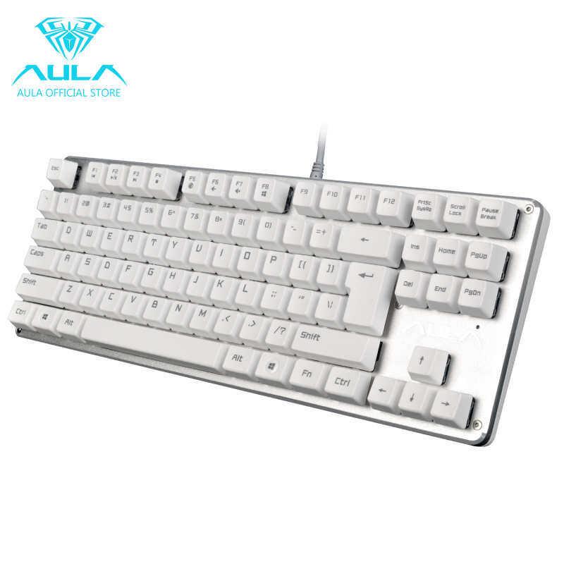 Microeco AULA F2012 mechanical gaming keyboard USB wired keyboard (white) Singapore