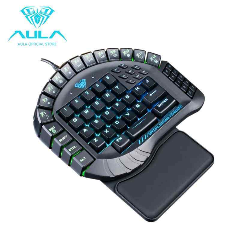 TenStar AULA Master one-handed game keyboard detachable armrest RGB backlight mechanical keyboard Singapore