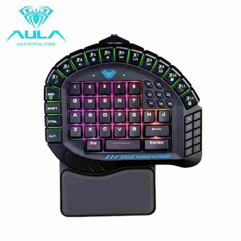 NiceEle AULA Master One-hand Gaming Keyboard Removable Hand Rest RGB Backlight Mechanical Keyboard Singapore