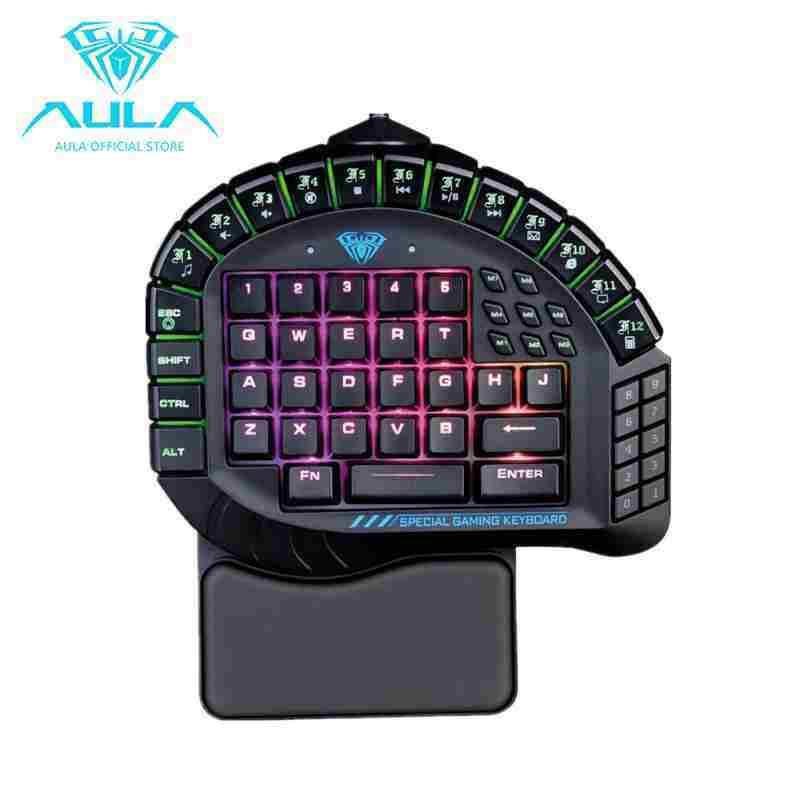 AllRise AULA Master One-hand Gaming Keyboard Removable Hand Rest RGB Backlight Mechanical Keyboard Singapore