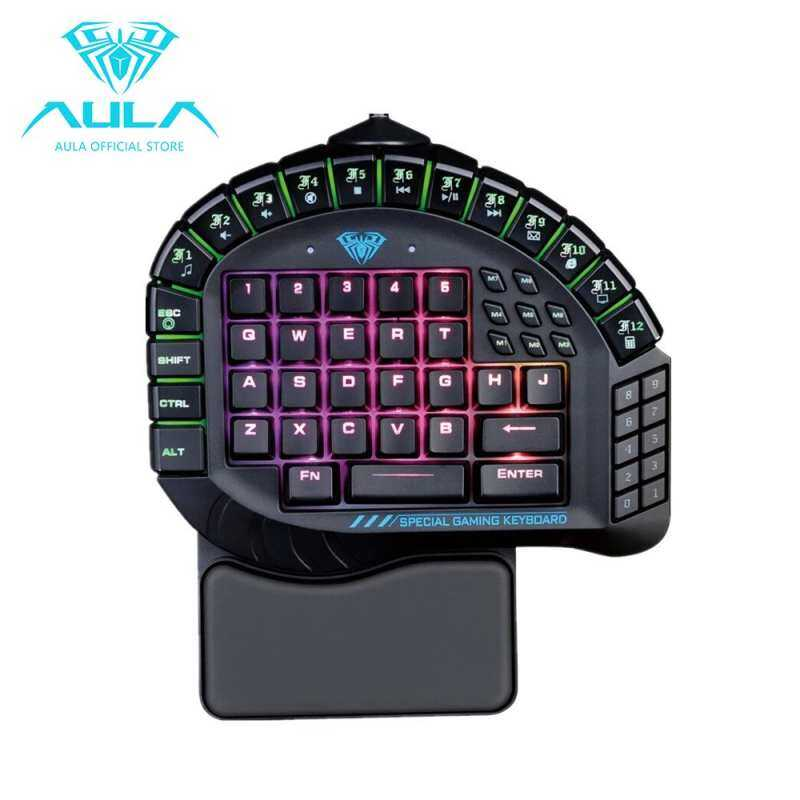 AirSky AULA Master One-hand Gaming Keyboard Removable Hand Rest RGB Backlight Mechanical Keyboard Singapore