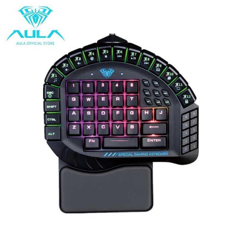 NiceNew AULA Master One-hand Gaming Keyboard Removable Hand Rest RGB Backlight Mechanical Keyboard Singapore
