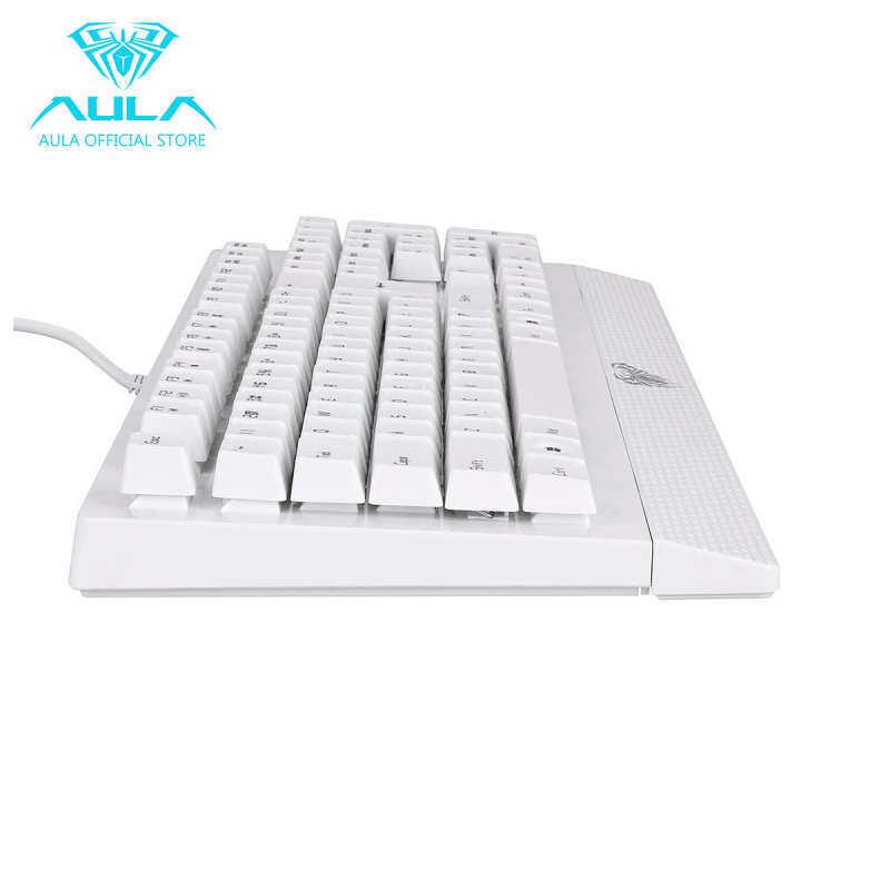 Microeco AULA Free Wings mechanical 104-key gaming keyboard waterproof (white) Singapore