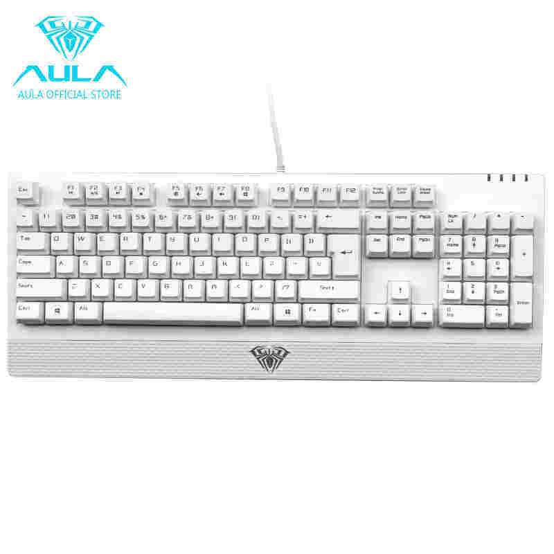 GreatTop AULA Wings of Liberty Mechanical 104keys Gaming Keyboard Waterproof(White) Singapore