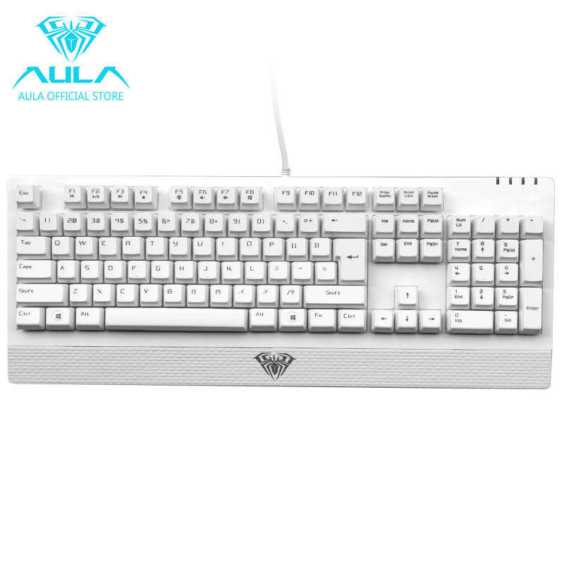 EverBuy AULA Wings of Liberty Mechanical 104keys Gaming Keyboard Waterproof(White) Singapore