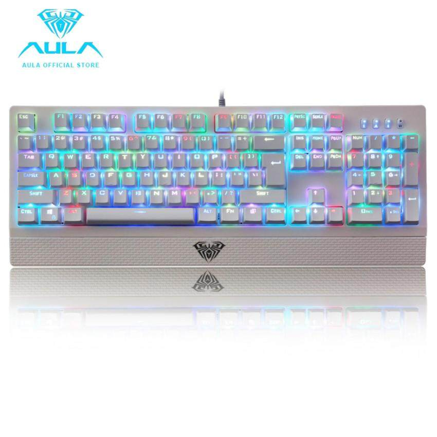 Nicetech Wings of Liberty RGB Mechanical Gaming Keyboard 104keys  Multicolors LED Backlit White(Blue switch) - intl