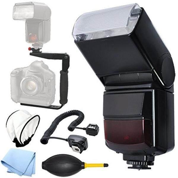 Otomatis Putar/Bouncing Sepatu Gunung Flash Bracket Flash untuk Semua Canon Digital Kamera SLR-Intl