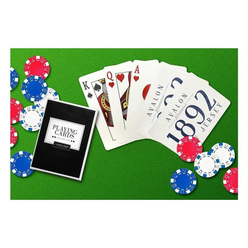 Avalon. New Jersey - Established Date (Blue) (Playing Card Deck -52 Card Poker Size with Jokers) - intl