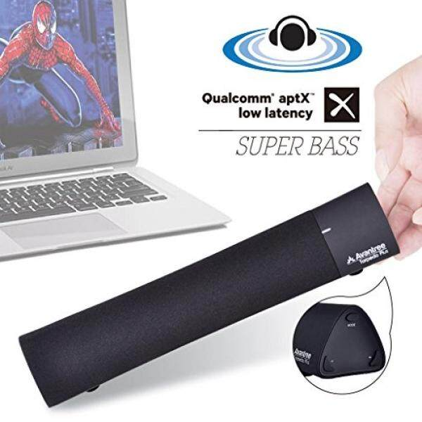 Avantree Superb 3D Sound Bluetooth 4.1 Laptop Speakers with DSP, AptX Low Latency, Wireless Soundbar for iPad, Mac, Tablets, TV, Super Bass & 3 Sound Effects - Torpedo Plus [2 Year Warranty] - intl