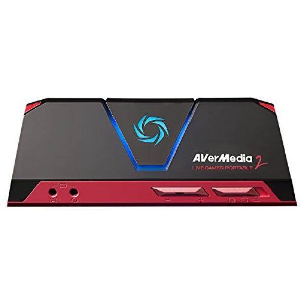 AVerMedia Live Gamer Portable 2, Full HD 1080p60 Recording Without PC Directly to SD Card, Ultra Low Latency, H.264 Hardware Encoding, USB Game Capture, Record, Stream, Plug & Play, Party Chat, XBOX, Playstation, Nintendo Switch (GC510) - intl