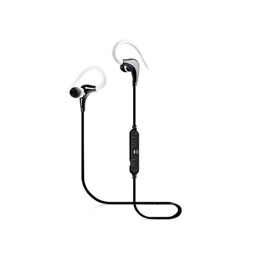 Awei A890BL Ukuran Kecil Olahraga Dalam-Telinga dengan Mikrofon untuk Iphone (Putih)-Internasional
