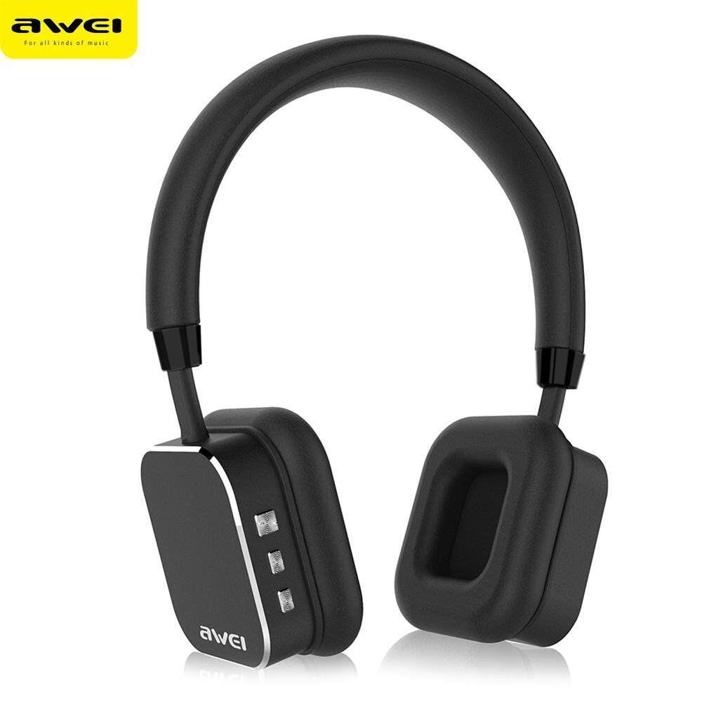 Price Awei A900Bl Universal Bluetooth V4 1 Wireless Headset Stereo Hifi Music Headphones Intl Singapore