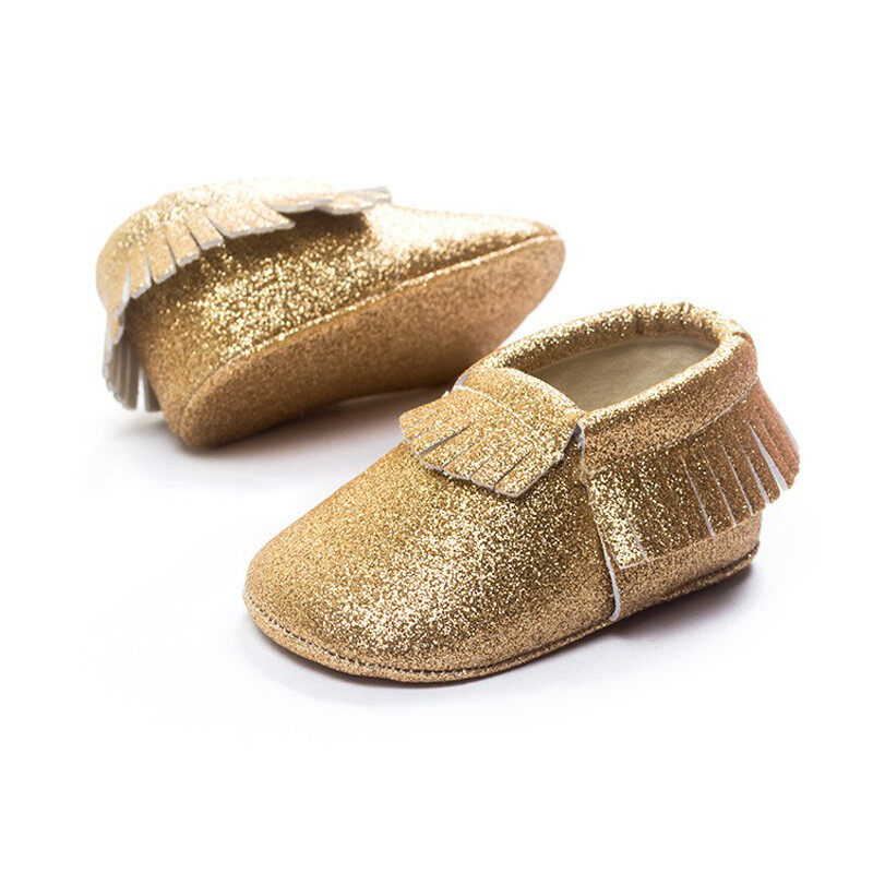 Giá bán Baby Toddler Infant Fashion Leather Soft Shoes Christmas Tassel Moccasins Gift Autoleader - intl