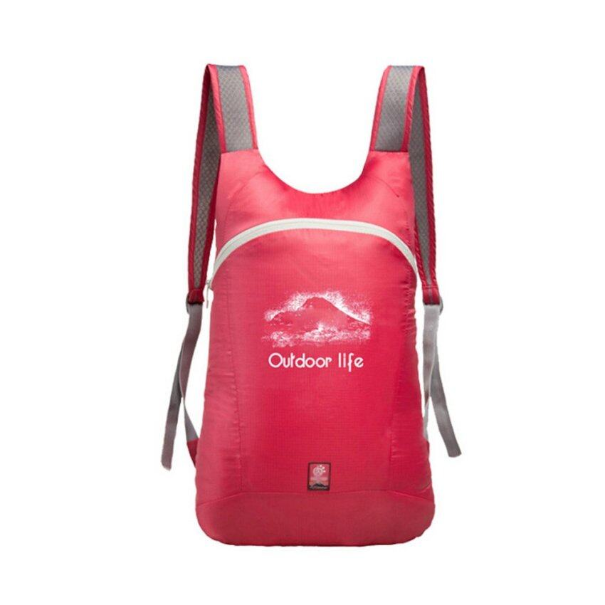 Yushong 14L High Quality Ultra Light Breathable & FoldableDaypack Travel Backpack Sporting Shoulder Bags-Rose