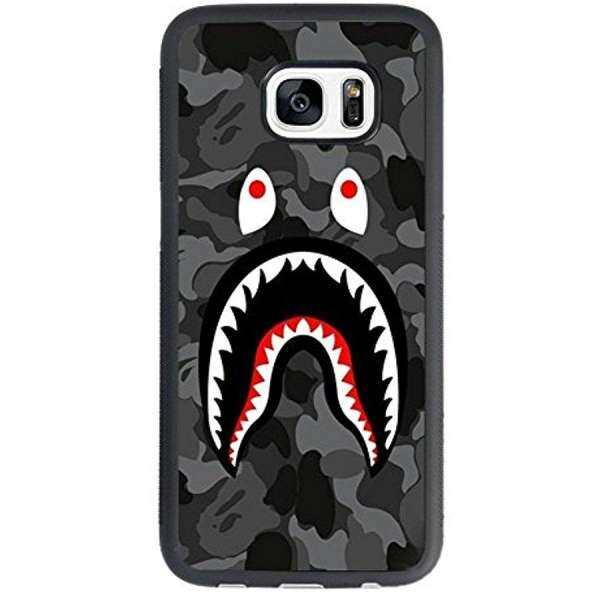 KAYO Bape Shark Black Army Pattern for Samsung Galaxy S7 Case,Bape