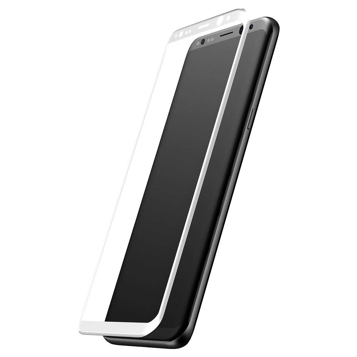 BASEUS 0.3 Mm 3D Melengkung Sutra Cetak Full Screen Tempered Pelindung Kaca untuk Samsung Galaxy S8