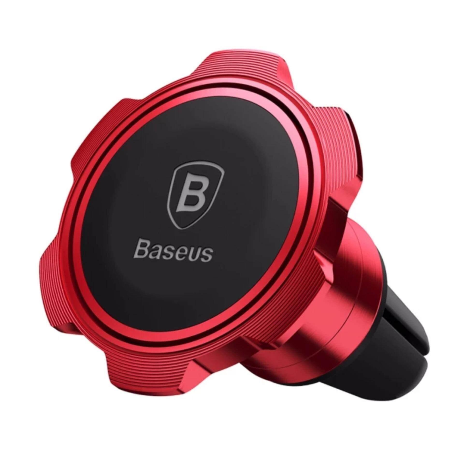 BASEUS Gyro Magnet Udara Ventilasi Mobil Dudukan Penahan Ponsel Gps Dudukan Penahan Magnetik Penyangga untuk iPhone Samsung LG 360 rotasi-Internasional