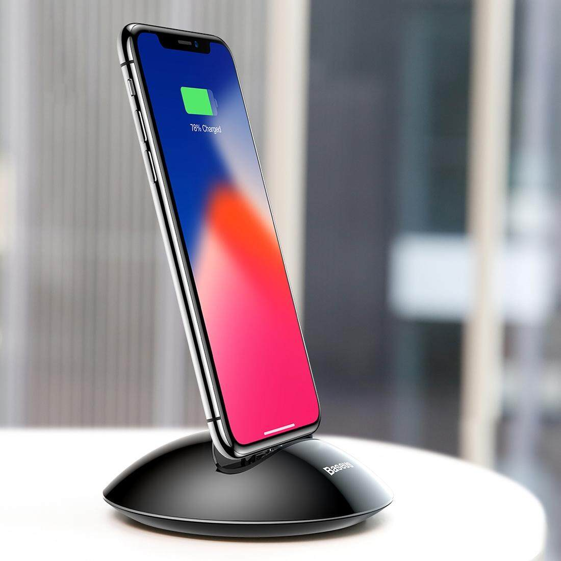 Baseus Northern Hemisphere Series Lightning Desktop Qi Standard Charger Station For Iphone X Iphone 8 And 8 Plus Iphone 7 And 7 Plus Iphone 6 And 6S And 6 Plus And 6S Plus Black Intl Deal