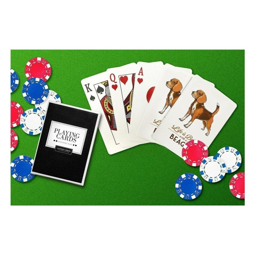 Beagle - Life is Better (Playing Card Deck - 52 Card Poker Sizewith Jokers) - intl