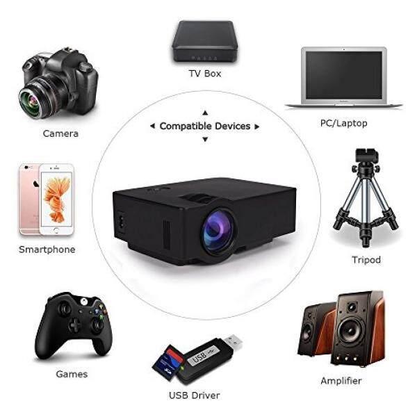 Beamer, leshp Beweglicher Projektor 1500 Lumen 800X480 Volles HD LED Video Heimkino IR Fernsteuerungs Verdrahteten Gleichen Schirm Unterst? tzt 1080 P USB/SD/AV/HDMI/VGA/IR-Intl
