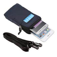 6 Inch Belt Bag Waist Pack Pouch With Carabiner For Iphone 7 Plus/samsung Galaxy Note7, Size: 16.5 X 9 X 3cm - Dark Blue By Tvcc.
