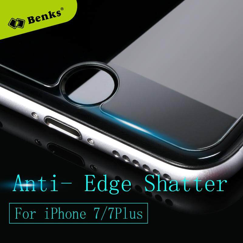 Rui Dia Benks Diperkuat Anti Biru Sinar Kaca Melunakkan Film 0.3 Mm Layar Tipis Perlindungan Sarung dengan Paket Eceran untuk iPhone 7 Plus-Internasional