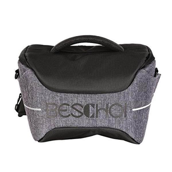 Beschoi Compact Camera Bag DSLR Gadget Bag Shockproof Travel Padded Shoulder Bag with Rain Cover for Canon, Nikon, Olympus, Sony Digital Cameras, Lens and Flash Speedlite - intl