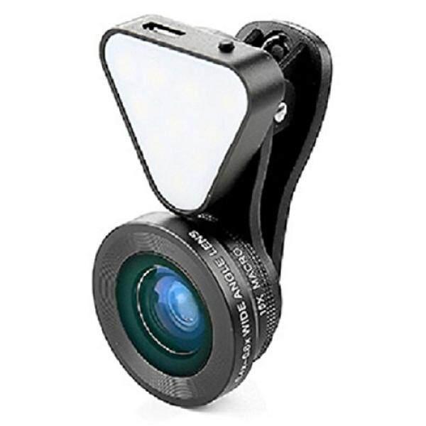 Terbaik 3 In 1 Universal Clip-On Ponsel Lensa Kamera Peralatan untuk I Phone 7/7 Plus, 6/6 S/6 S PLUS 5 Samsung, Galaxy, Smartphone tablet Isi Ulang Kilat LED 10x Macro 0.4x-0.6x Wide Angle dengan Menambahkan Sekrup-Intl