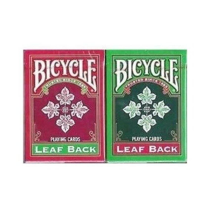 Bicycle Leaf Back Deck - Red AND Green in colour - intl