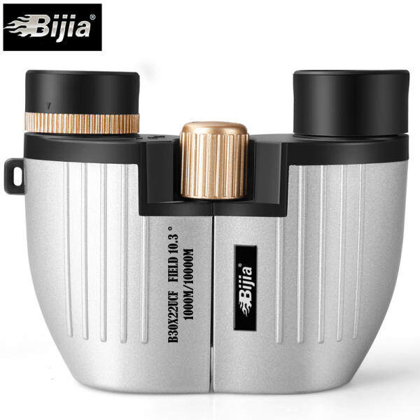 Ziokec BIJIA 30x22 Waterproof Night Vision Metal Mini Pocket Binoculars Telescope Opera Glasses