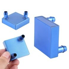 Blue 41*41mm Aluminium Water Cooling Heatsink Block Liquid Cooler for CPU GPU Malaysia