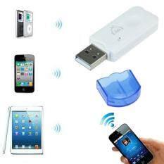 Biru USB Nirkabel Bluetooth Audio Musik Adaptor Penerima untuk iPhone 4 5