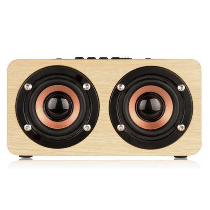 Pada Pandangan Pertama Q7 Kayu 4X3.5 W 4 Tanduk 3D Stereo Bas Bluetooth 4.0