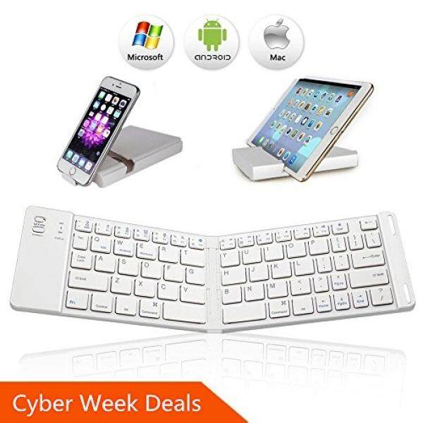 Where To Buy Bluetooth Folding Keyboard Ikos Ultra Slim Pocket Size Foldable Keyboard For Ios Android Windows Ipad Mini Ipad Pro Iphone Smartphones Windows Smart Tv Tablets With Rechargable