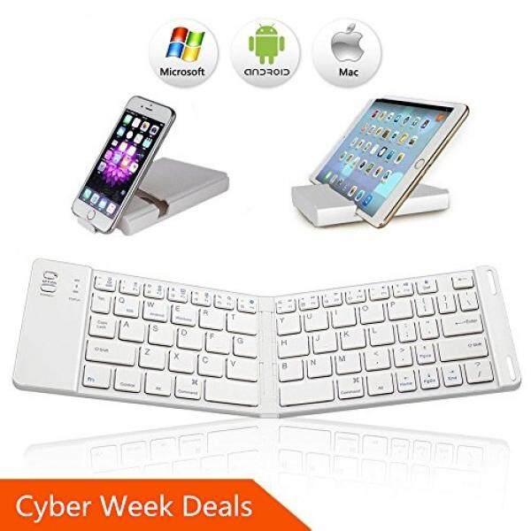 Compare Bluetooth Folding Keyboard Ikos Ultra Slim Pocket Size Foldable Keyboard For Ios Android Windows Ipad Mini Ipad Pro Iphone Smartphones Windows Smart Tv Tablets With Rechargable