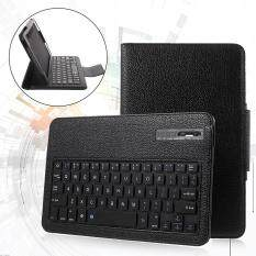 Bluetooth Keyboard Litchi Leather Stand Case For Samsung Galaxy Tab A 10.1 (2016) T580 T585 - Black By Tvc-Mall.