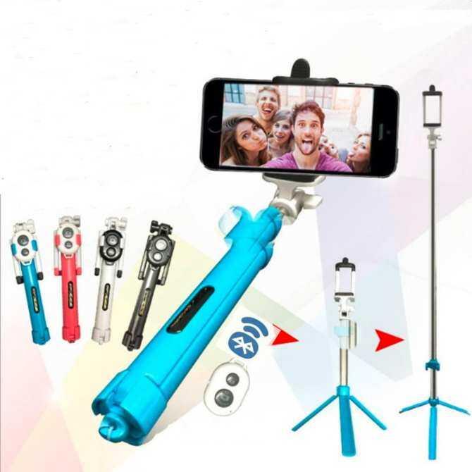 Bluetooth Selfie Tongkat Tripod dengan Nirkabel Bluetooth Selfie Rana untuk Android IOS Diri-Penghitung Waktu Penyangga Tripod untuk Pemegang telepon untuk GoPro Olahraga Kamera-Internasional