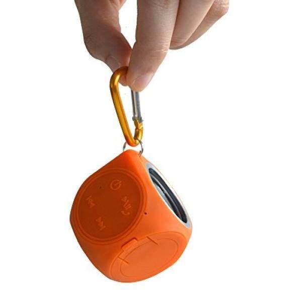 Pembicara Pancuran Bluetooth-Tetra Soundwave Mini-Anti-Air Portabel Pembicara untuk iPhone, Android, Jendela mac dan Gema Titik-Loud dengan Kualitas Suara Yang Bagus-Ringan, Hanya 2.6 Oz! (Oranye)-Internasional