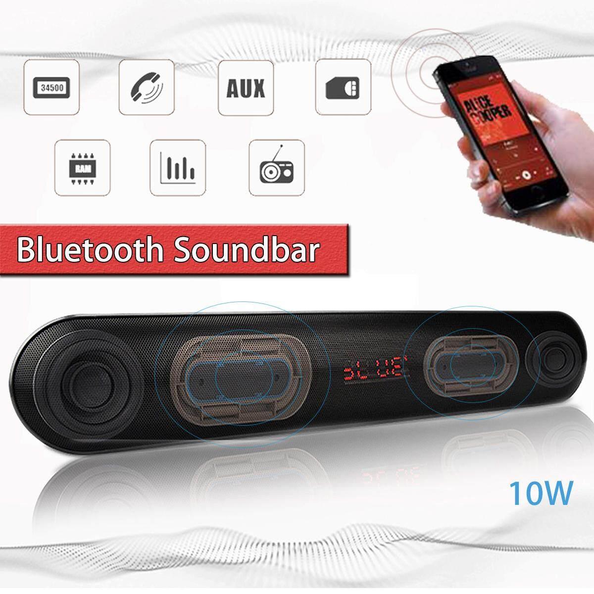 bluetooth TV Soundbar Wireless Stereo Speaker Home Theater +Subwoofer USB/TF/AUX - intl
