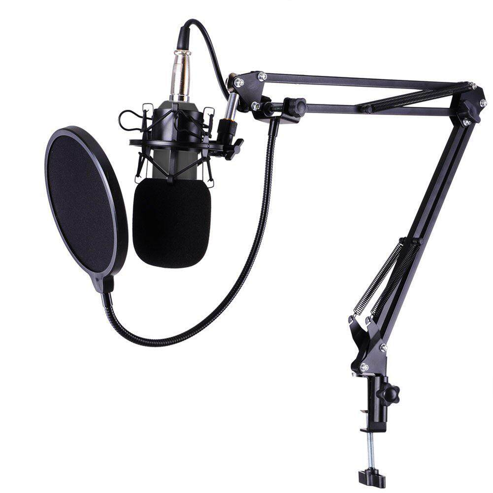 BM-800 Studio Live Streaming Broadcasting Recording Condenser Microphone(Black) (MY) Malaysia