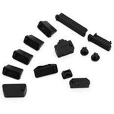 BODHI 13Pcs/Set Universal Laptop Notebook Silicone Anti Dust Ports Cover Plug Cap (Black) Malaysia