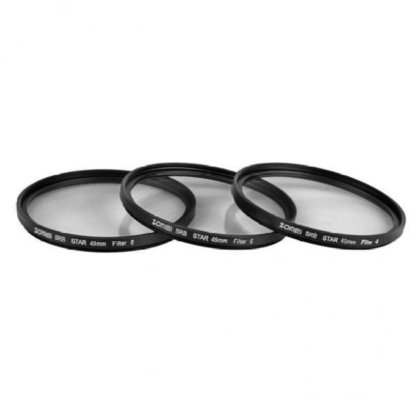 Bolehdeals Zomei Bintang Filter 4 + 6 + 8 Point 3in1 Set untuk Dslrcameralens 40.5-