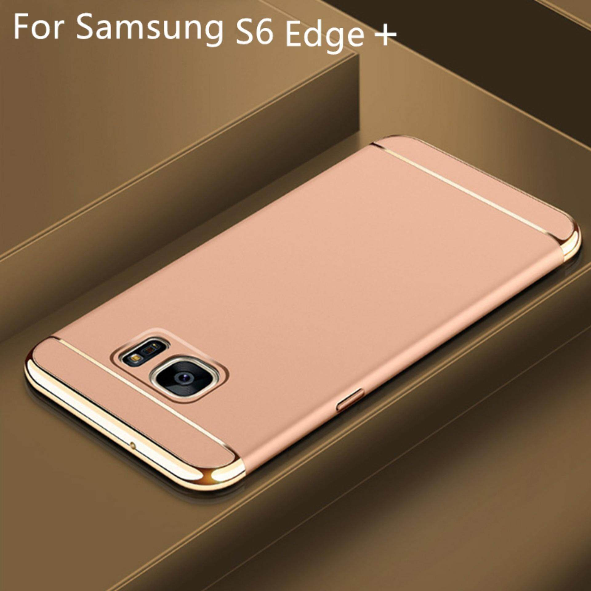 BONVAN Ultra Thin 3 in 1 PC Scrub Back Cover Luxury Electroplated Protection Phone Case For