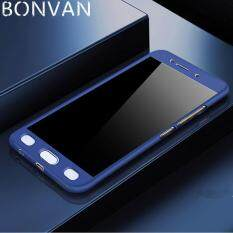 Rp 50.000. BONVAN Whole Protection Phone Shell 360 Full Cover Scrub Case Anti-fingerprint Shockproof Matte Case with Tempered Glass For Vivo ...