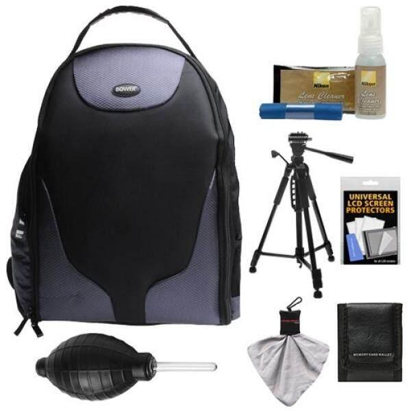 Bower SCB1350 Photo Pack Backpack Digital SLR Camera Case (Black) + Tripod + Kit for Nikon D3100, D3200, D3300, D5100, D5200, D5300, D7000, D7100 DSLR Cameras - intl